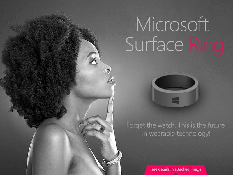 Microsoft Surface Ring - Concept concept microsoft surface ring product design