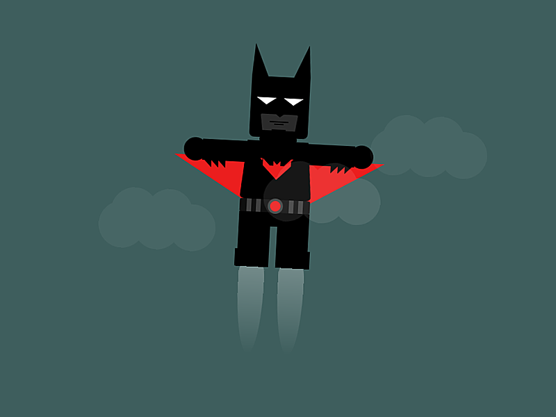 Lego Batman Beyond - HTML5 and CSS3 animation lego batman beyond html5 css3 illustration