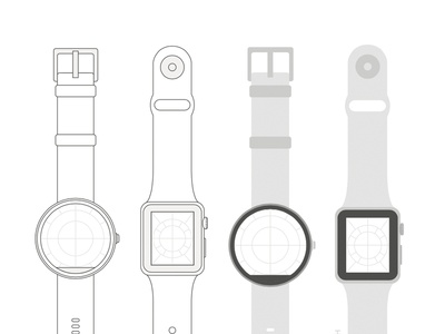 Moto360 & Apple Watch Template