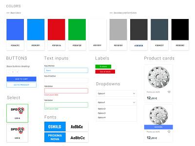 UI Kit for a Slovac moto shop minimal webstore clean kit website web ux ui app design