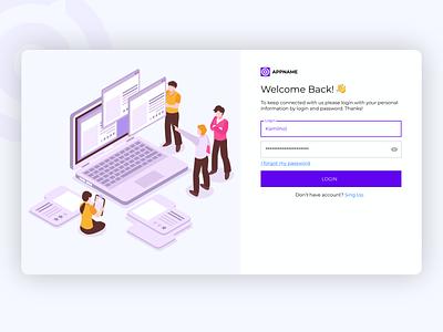 App for designers vector illustration minimal clean website web ux ui design app