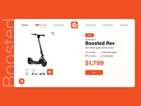 Boosted scooter website concept #2