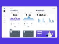 Simple bank app dashboard concept