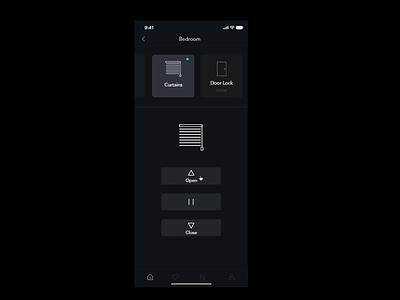 Smart Home Interaction graphic ux ui close open smart switches smart home interaction animation illustration design