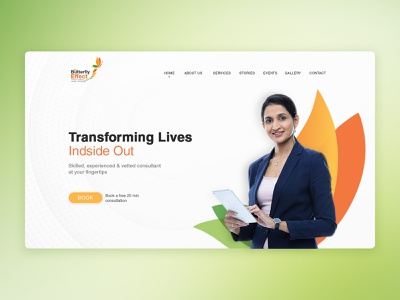 Website Layout events stories consultant effect butterfly web design ui website design