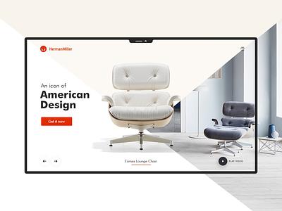 Furniture Company UI design chairs luxury lifestyle furniture ui user interface design website