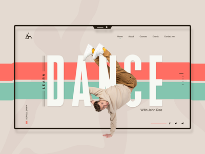 Dance class UI concept user experience ux designer idea concept design web website user interface ui