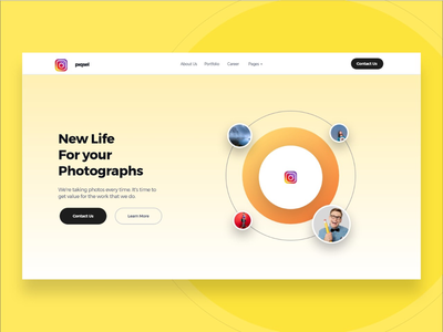 UI Concet   Daily UI instagram camera photography yellow interaction website design web userinterface ux ui