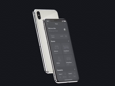 Home Automation Lighting App mobile homescreen video xd aftereffects iconography home screen iot lighting interaction design icon automation home mobile ui application light dark ui daynight interaction ux ui design