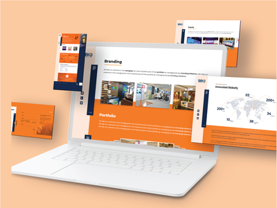 UI mockup minimalist portfolio white orange idea trending mockup design web ux ui