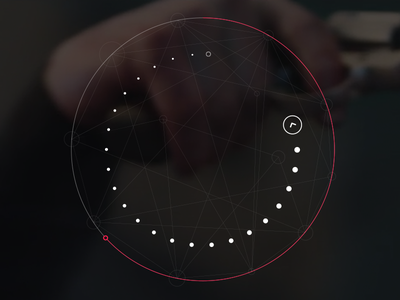 Rotation Game Interface interface dots flat minimal swipe arrow round webdesign modern