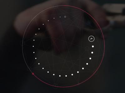 Rotation Game Interface interface dots flat minimal swipe arrow round webdesign modern