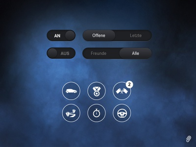 Mercedes-Benz Escape the Hall - UI Overview mercedes-benz car automotive ui ux interface vector button app game iphone