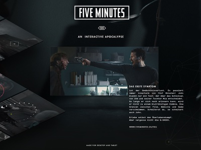 Five Minutes by G-SHOCK - Award chart flat game interface zombie interactive ipad tablet movie film g-shock