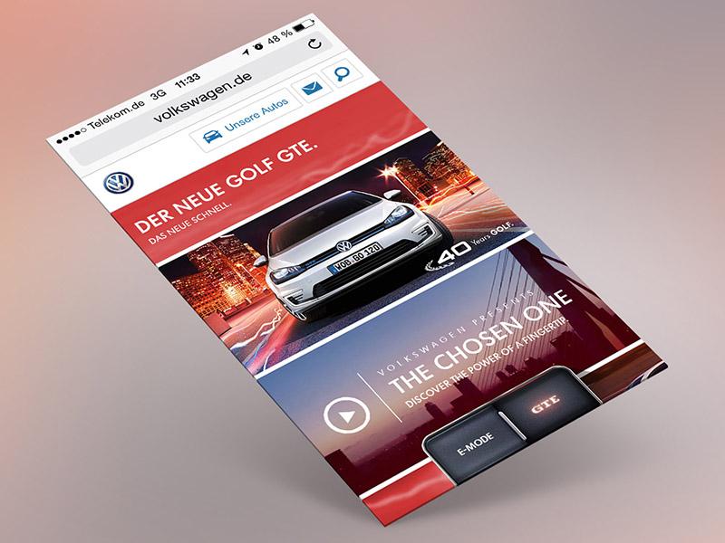 Volkswagen GTE mobile web special