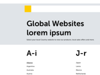 Global Website Country Selector