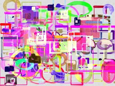 Abstract color picture with shapes