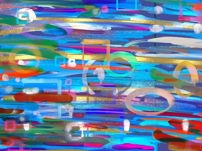 Abstract artwork color picture