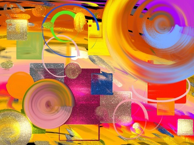 My Artwork with colorful abstract shapes
