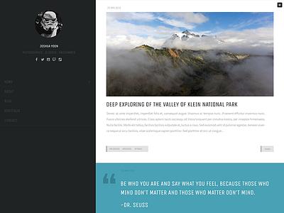 Trooper website design bloggers design wordpress theme