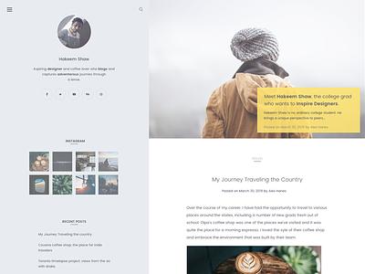 New theme design concept 🧐 ui wordpress light clean design blog theme