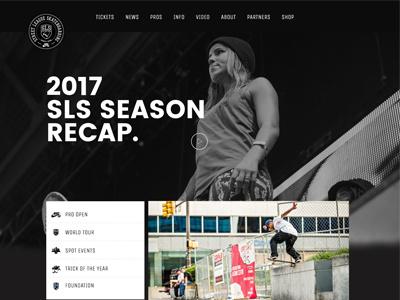 Street League Skateboarding Design Concept media sports modern dark website design skateboarding