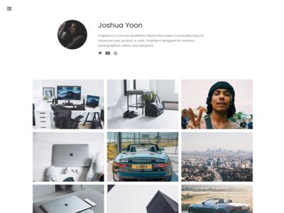 Prophile - Instagram inspired WordPress Theme dark light simple clean minimal theme design instagram wordpress