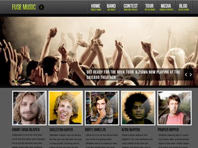 Music Wordpress Theme wordpress theme design development