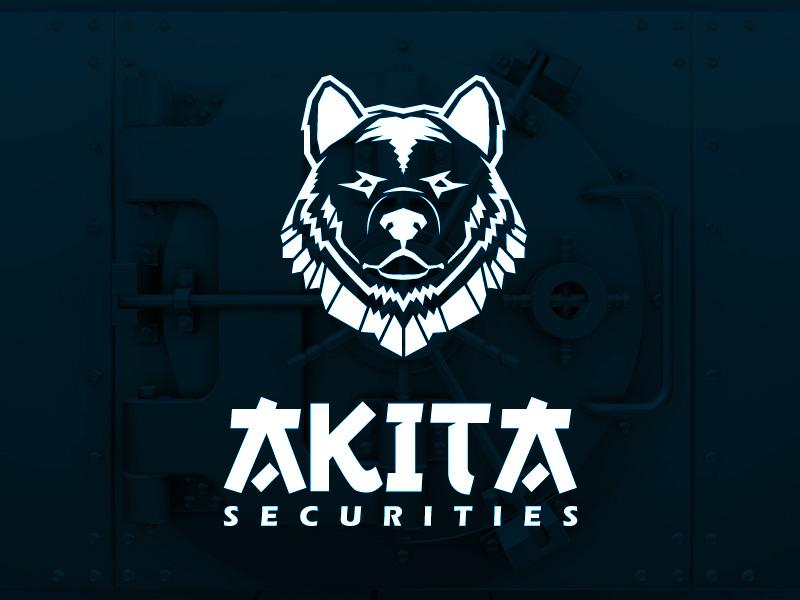 Akita Securities Logo logo security dog securities akita design brand identity clean safe japanese oriental