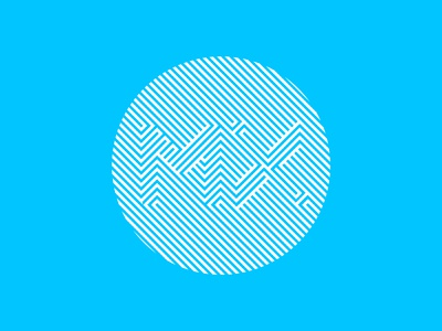 MX Illusion modern geometric illustration logo scredeck lines line illusion graphics logi logitech mx