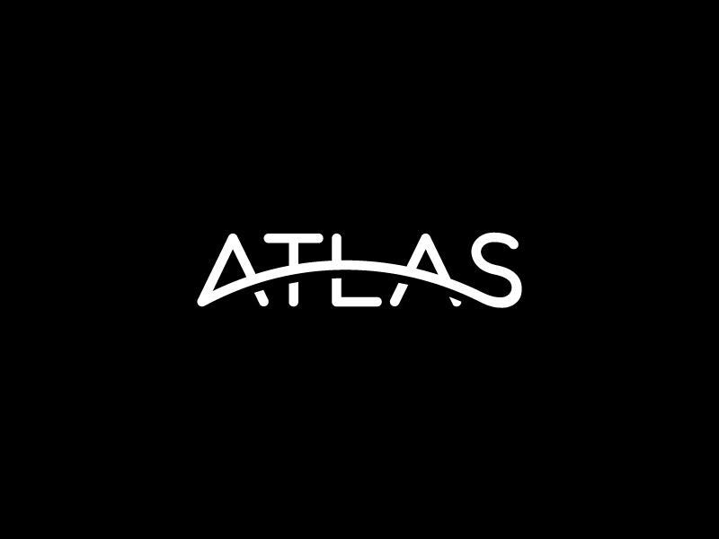 Atlas scredeck dj music curvature curve globe atlas logo typography text