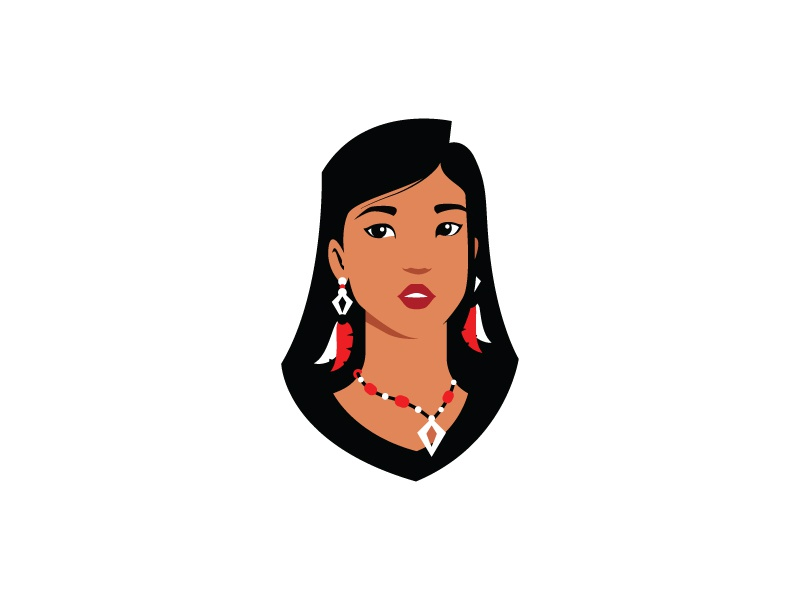Chiefess jewelery head face character girl native american native indian chief chiefess