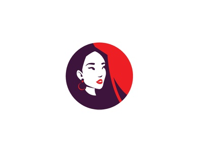 Exotic beauty chinese oriental exotic woman beauty asian japanese japan illustration vector head scredeck logo