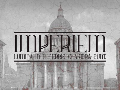 Imperiem typeface