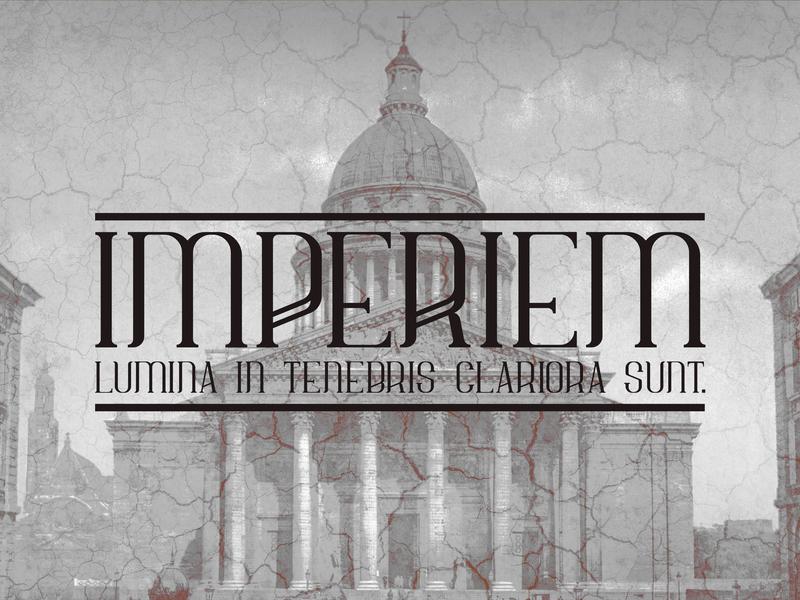 Imperiem typeface latin elegant serif typography ancient roman typeface font scredeck imperiem