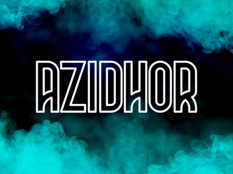 Azidhor typeface type typefaces typeface. lettering sanserif sans modern simple typeface scredeck font typography