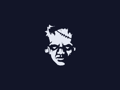 Frankenstein character haloween zombie undead monster frankenstein horror head scredeck logo