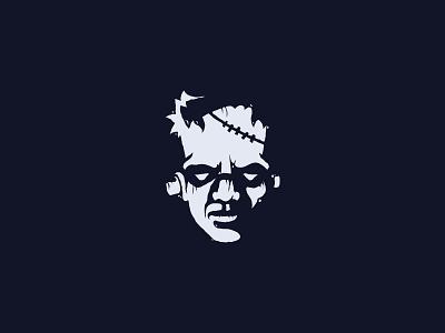 Frankenstein character haloween zombie undead monster frankenstein horror head scredeck logo