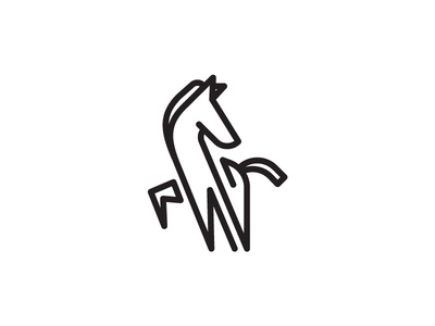 Zebra Line linear icons linear lineart horse zebra illustration design animal simple scredeck logo