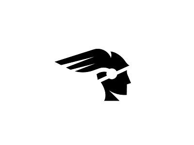 Hermes greek demigod god mythological mythology wing helmet hermes simple scredeck logo