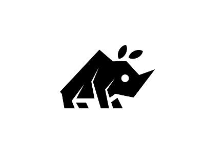 Rhino nature illustration design icon zoo rhinoceros rhino africa animal simple scredeck logo