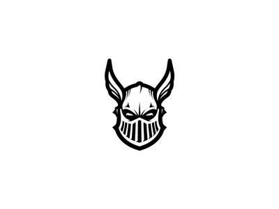 Knight gladiator warrior soldier hero knight wing helmet head simple scredeck logo