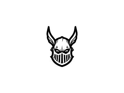 Knight gladiator warrior soldier hero knight wing helmet head simple scredeck logo