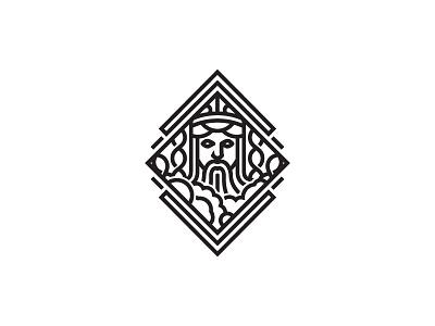 Genetics God skyline design beard sky spiral dna genetics god scredeck logo
