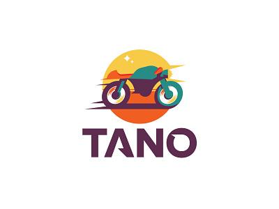 Tano design scredeck simple african logo speed race delivery motorbike sahara africa bike