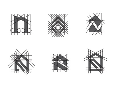 N house logo explorations geometric letter building home real estate house design simple scredeck logo