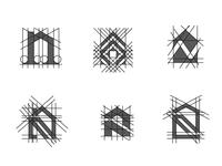 N house logo explorations