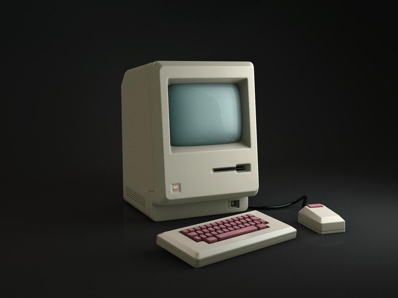 macintosh 1984 3d model icon ux branding ui design photoshop aftereffects cinema4d 3dmodel 3d