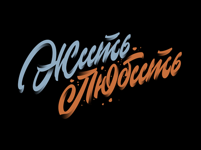 Жить-Любить (Live-Love) handlettering type typography logotype lettering hand-drawn custom