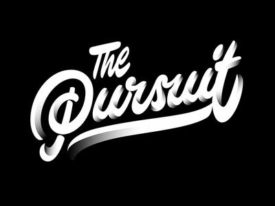the Pursuit logo branding type typography design illustration vector logotype letter handlettering lettering